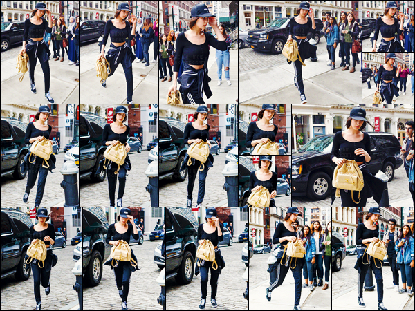 25/03/16 - Bella Hadid a été aperçue alors qu'elle se rendait à l'appartement de sa s½ur dans New-York City ![/s#00000ize]La jolie brune était affublée d'une tenue de training de la marque Adidas ! Un look décontracté comme on les aime puisqu'un rien habille miss Hadid.[/alig fen]