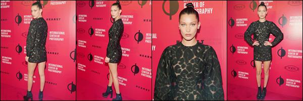 - 10/04/16 - Bella Hadid était présente à la cérémonie annuelle des Infinity Awards, se situant dans New-York.La jeune mannequin s'est donc rendue à la 32e édition des Infinity Awards organisé par International Center of Photography. C'est un joli top pour Bella !-