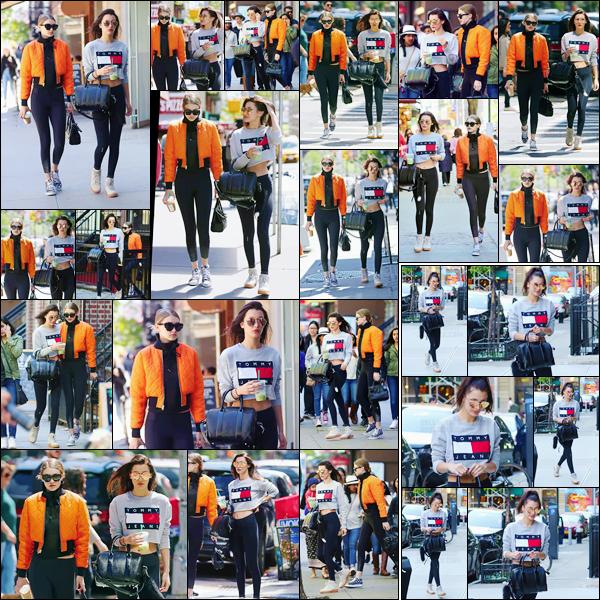 - 08/05/16 - Bella Hadid a été photographiée alors qu'elle se promenait, avec Gigi Hadid, dans New-York City.La mannequin été accompagnée de sa grande s½ur Gigi, puis elle a de nouveau été photographiée dans la journée cette fois-ci seule. C'est un joli top !-