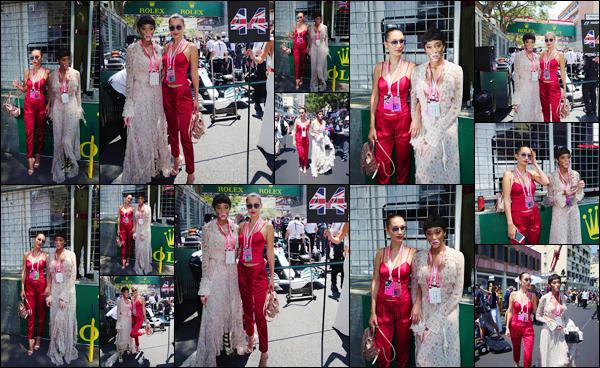 - ''28.05.17'-''─''Bella Hadid était présente lors du « Grand Prix » de formule 1 avec Winnie Harlow, à Monaco ![/s#00000ize]Après un bref moment d'inactivité sous le radar des caméras, Bella se trouve toujours en France : pour participer aux grands événements de ce mois-ci. -