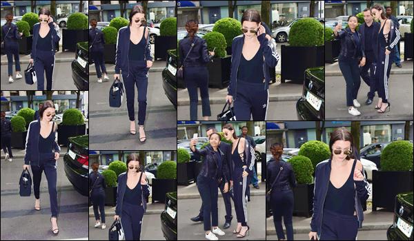 - 24/06/16 ─ Bella Hadid a été aperçue en arrivant à son hôtel le Four Seasons « Georges V » dans la capitale de Paris ! Je rappelle que Bella est présente dans notre capitale pour le défilé Givenchy, au côté de Kendall Jenner. Niveau tenue : total black, c'est un superbe top.-