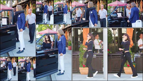 - 18/06/16 ─ Bella Hadid a été photographiée se rendant au restaurant « Via Alloro », toujours à Los Angeles ! Bella s'est rendue là-bas pour déjeuner avec son papa à l'occasion de la fête des pères - on peut voir qu'ils sont très proches. Côté tenue : très simple ...-