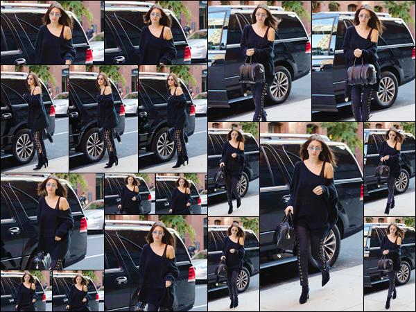 - 11/07/16 ─ Miss Bella Hadid a été photographiée alors qu'elle arrivait à Milk Studios, qui est à New-York City.Bella a quitté Paris mais elle continue à sortir en masse ! C'est dans la même tenue, que la belle mannequin a été de nouveau aperçue, dans New York...-