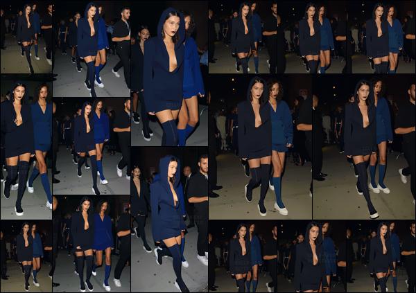 - 12.09.16'─'Bella Hadid arrivait sur place du défilé de la marque « DKNY » pour la Fashion-Week de New-York ![/s#00000ize]Suivie de nombreux autres mannequins pour la marque, la jeune américaine arrivait sur les lieux du podium avec sa première tenue de la collection ...  -