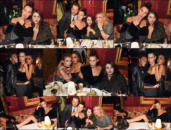 - 19.09.16'─'La mannequin Bella Hadid était présente à la soirée du « LOVE Magazine » dans la ville de Londres[/s#00000ize]Plein d'autres célébrités étaient présentes lors de cette soirée et Bel s'est fait un plaisir de prendre à pose en compagnie des autres invités de la fête ! -