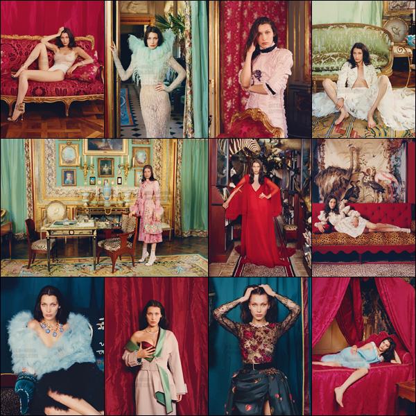 - ─'Découvrez le photoshoot « Lady In Waiting » pour W Magazine, réalisé par la photographe Venetia Scott [/s#00000ize]Ce photoshoot très coloré se retrouvera dans l'issue du mois d'octobre 2016 prochain, où l'on retrouve une Bella Hadid dans un univers riche et pompeux'  -