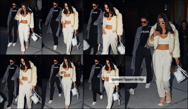 - 29.09.16'─'Bella Hadid se rendait au restaurant de cuisine japonaise « Nobu » avec Kendall Jenner dans Tribeca[/s#00000ize]Baby Bels n'a pas pris part à la Fashion-Week parisienne, puisqu'elle a dû être hospitalisée après celle se déroulant à Milan. Tout semble mieux aller ... -