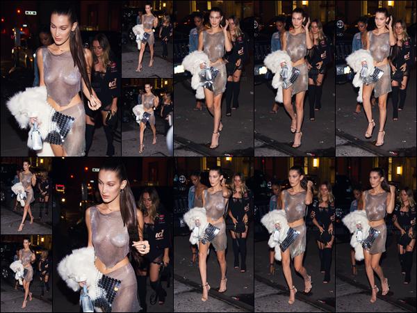 - 09.10.16'─'Bella Hadid arrivait dans le night-club huppé « Up & Down » qui se trouve dans la ville de New-York ![/s#00000ize]Toujours pour célébrer ses vingt ans, notre belle mannequin a poursuivit sa soirée dans une boîte de nuit, accompagnée de Hailey Baldwin & compagnie. -