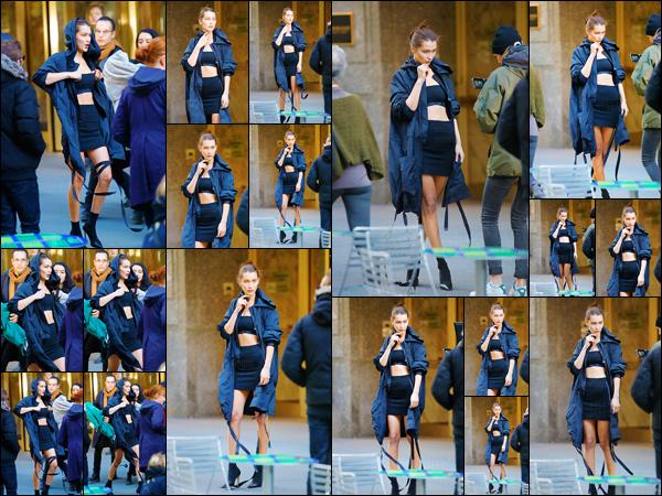 - 23.10.16'─'Bella Hadid a été repérée sur le set d'un nouveau photoshoot se déroulant encore une fois dans NY. [/s#00000ize]Notre Bella enchaîne ainsi les rendez-vous professionnels et fait de plus en plus parler d'elle dans le monde de la mode. Vous en pensez quoi ?! Top ?  -