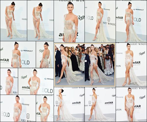 - ''25.05.17'-''─''B. Hadid était à la soirée caritative pour le sida « amfAR's 24th Gala », qui avait lieu à Cannes ![/s#00000ize]Après avoir passé quelques jours à Rome, Bella Hadid est de retour à Cannes pour participer à cette soirée, portant une création de chez Ralph & Russo. -