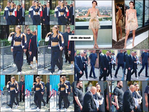 - ''03.06.17'-''─''Bella Hadid était présente au lancement de la marque Nike chez « The Grove » à Los Angeles ![/s#00000ize]C'était le lancement de la collection de vêtement Nike Cortez dans une des boutiques sportives. Un peu plus tard, Bella arrivait à l'hôtel The Beverly Hills. -
