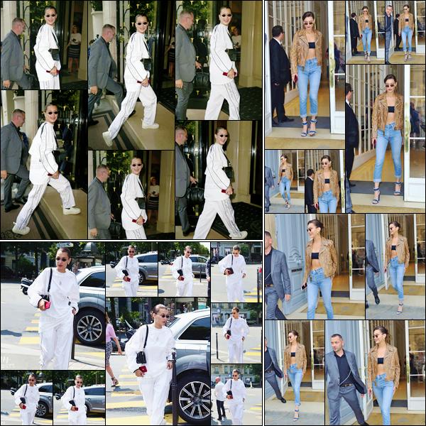 - ''22.06.17'-''─''Bella Hadid arrivait à son hôtel le Four Seasons nommé « George V » dans la capitale de Paris[/s#00000ize]Bella a ensuite été photographiée en arrivant au restaurant L'Avenue puis elle est revenue à son hôtel pour se rendre aux bureaux de la marque Dior ... -