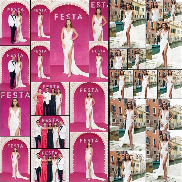 - ''30.06.17'-''─''À nouveau, Bella Hadid était présente à la soirée de « Bulgari Festa » par la marque, à Venise ![/s#00000ize]Cette fois, la belle brune s'est revêtue d'une longue robe blanche, qui lui sied à ravir ! Bella était aussi accompagnée de la mannequin miss Lily Aldrige ... -