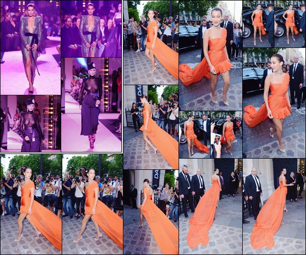 - ''04.07.17'-''─''Bella Hadid se rendait à la soirée « The Vogue Party » organisé par le grand magazine, à Paris ![/s#00000ize]Plus tôt dans la journée, notre jeune mannequin a défilé dans deux tenues différentes de la collection d'automne et d'hiver de 2017 d'Alexandre Vauthier. -