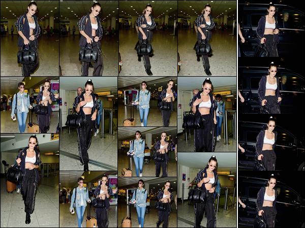 - ''07.07.17'-''─''Bella Hadid a été aperçue à son arrivée à l'aéroport anglais « Heathrow » avec Winnie Harlow ![/s#00000ize]Après avoir pris un vol en direction d'Arles, cette fois la brunette foule le sol anglais et se retrouve de nouveau à Londres, tout comme Kendall Jenner ... -