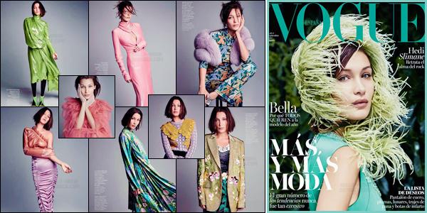 - VOGUE ▬ Découvrez Bella Hadid pour le « Vogue Spain » pour l'édition en septembre de 2017 !-