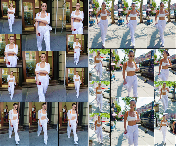 - '-24/08/17-'''✈''Une énième fois, Bella Hadid se baladait dans les rues de la très grande Métropole : New York ! Bella opte cette fois-ci pour un look total white comme elle aime tant les porter. Décontractée : une tenue comme on les aime, et donc un top pour Bella.-