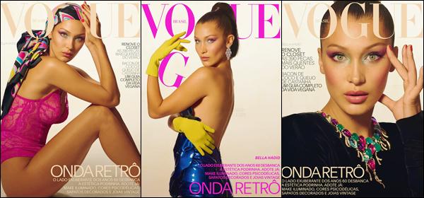 - ▬ Bella Hadid  fait la couverture du magazine « Vogue Brasil » du mois de septembre 2017 !-