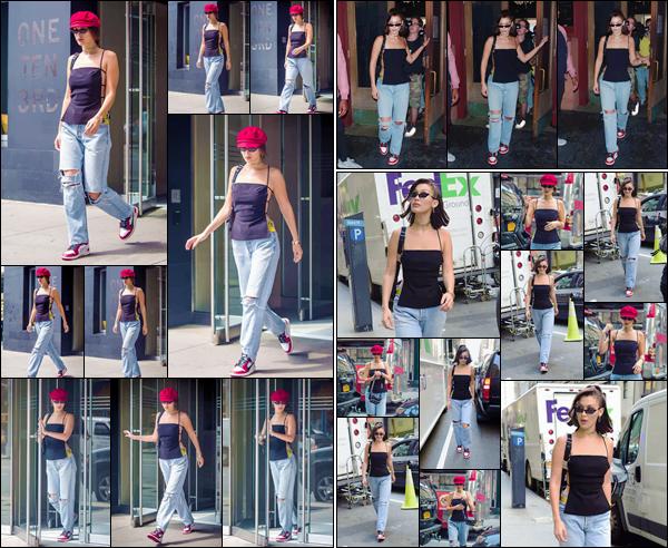 - '-07/09/17-'''✈''Isabella Hadid se rendait à la boutique « Nike x Kith » qui se trouve dans la ville de New York. Elle a aussi été photographiée en quittant son appartement à Manhattan et puis dans la rues de la ville. J'accorde un flop pour cette tenue mal accordée.-