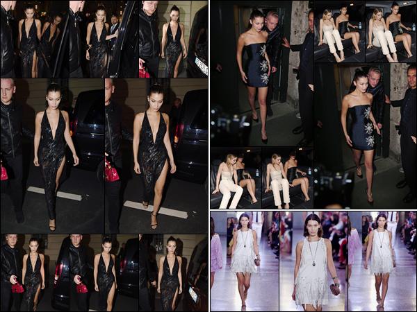 -'-22/09/17-'''✈''Bella Hadid et Gigi se rendaient au dîner organisé par la marque « Versace » à Milan en Italie ! Bella était accompagnée de sa grande soeur qui tout comme elle, a défilé pour la marque. Le 23 septembre, Bels a défilé pour la marque Bottega Veneta.-