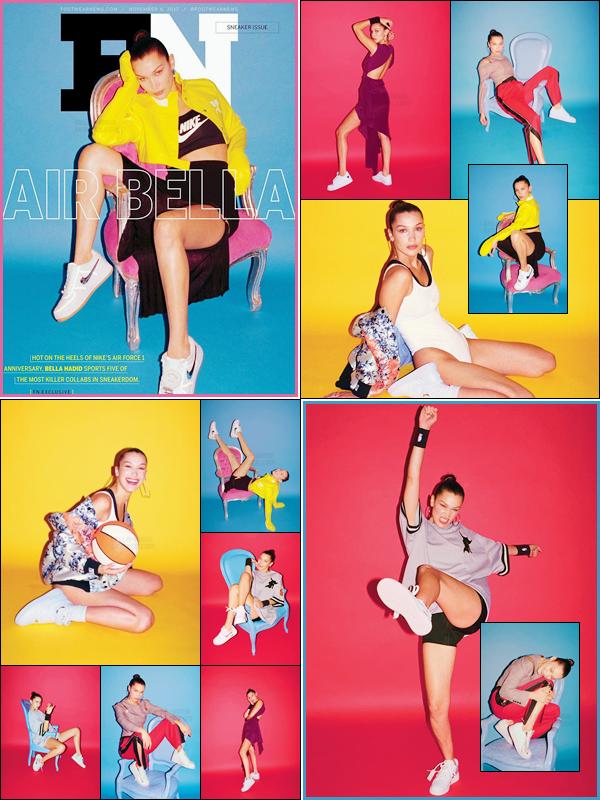 - ▬ Bella Hadid fait la couverture du « Footwear News » pour les 35 ans des Nike Air Force !-