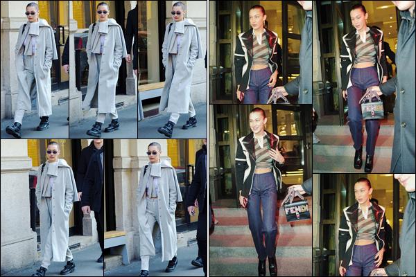 '- '-▬-13/01/18 -' : Bella Hadid quittait la boutique de « Sigarette Elettroniche » se trouvant dans la ville de Milan. Bye bye New York miss Hadid dit bonjour à Milan où elle aime beaucoup passer du temps ! Il y aurait des rumeurs comme quoi B. défilerait pour Versace.-