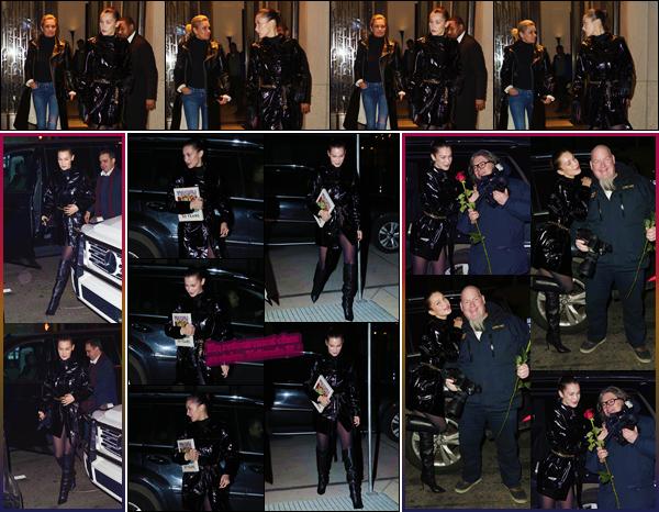 '- '-◊-14/02/18-' : Bella Hadid quittait le restaurant chinois « Mr. Chow » avec sa mère Yolanda dans New York. En compagnie de sa maman, Bella Hadid a passé la Saint-Valentin en sa compagnie. De plus, Bella Hadid apparaîtra dans le Vogue de mars 2018. Top !-