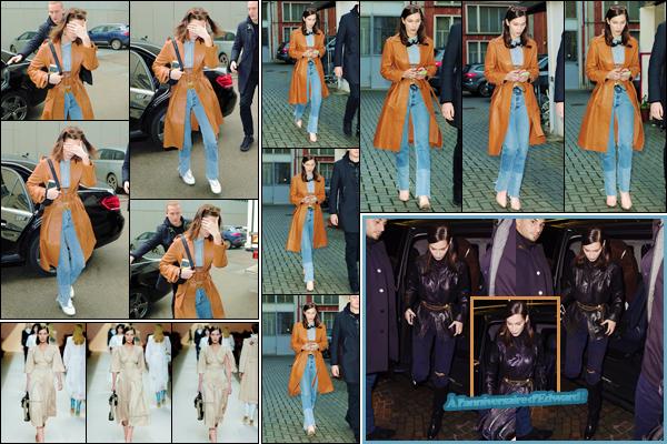 '- '-◊-22/02/18-' : Bella Hadid défilait pour la marque de haute couture « Fendi » pour la Fashion-Week de Milan. Bella Hadid quittait par la suite les lieux de ce défilé, en compagnie de sa grande s½ur Gigi Hadid. Pour ma part, j'adore la tenue portée lors de ce défilé !-