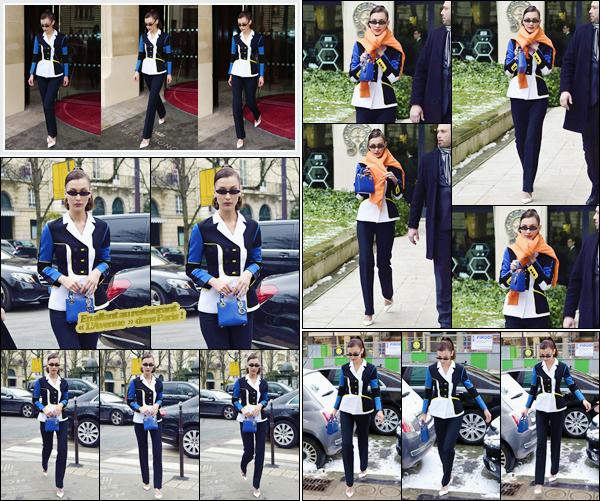 '- ''-01/03/18-' • Bella Hadid se rendait à l'événement « LVMH Prize Showroom » ayant lieu dans la ville de Paris. Bella Hadid qui avait quitté son hôtel, s'est ensuite rendue à la boutique de vêtement « Chrome Hearts Flagship » toujours à Paris. Un top.-