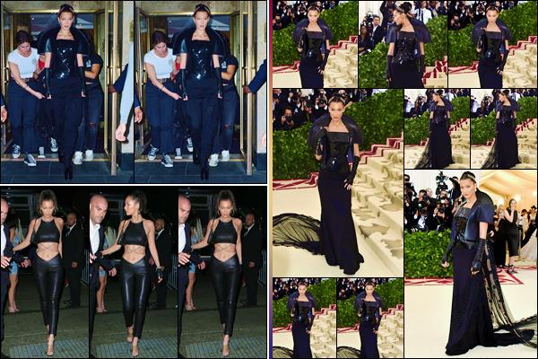 - ''•-07/05/18-' : Bella Hadid était présente lors du « MET Gala '18 », au Metropolitan Museum of Art de New York. Bella Hadid était vêtue par la marque « Chrome Hearts », tout en respectant le thème fixé cette année pour ce prestigieux gala américain. -