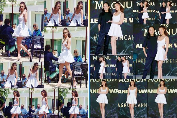 - ''•-10/05/18-' : Bella Hadid était présente à l'événement du : « Magnum Photocall », lors du Festival de Cannes. Un peu avant, Bella Hadid a été aperçue sur la terrasse   de l'hôtel « Martinez » pendant qu'elle mangeait. Gros coup de c½ur pour Bella ! -