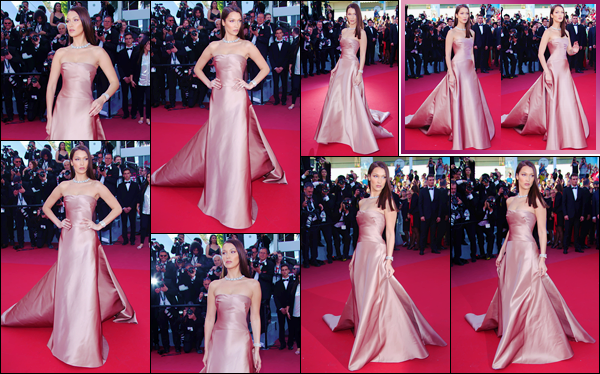 - ''•-11/05/18-' : Bella Hadid était à la première du film de « Ash Is Purest White » pendant le Festival de Cannes. Pour son premier tapis rouge du Festival de Cannes cette année, Bella Hadid est vêtue par les marques de Dior Couture, ainsi que Bulgari. -