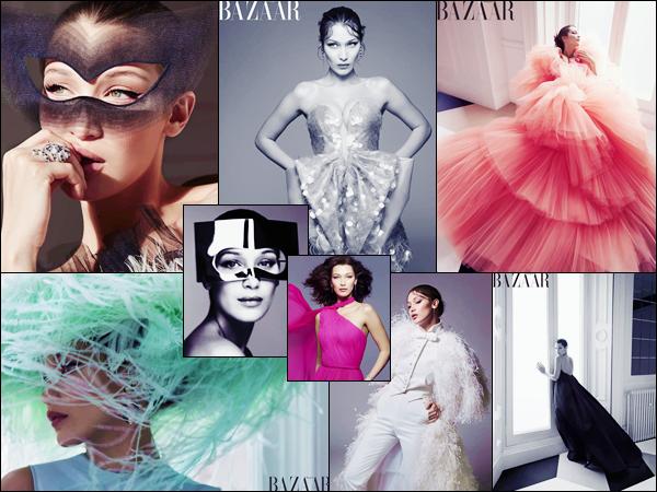 - '-MAGAZINE ●- Bella Hadid fait la couverture du « Harper Bazaar » pour les mois de juin/juillet 2018 ! -