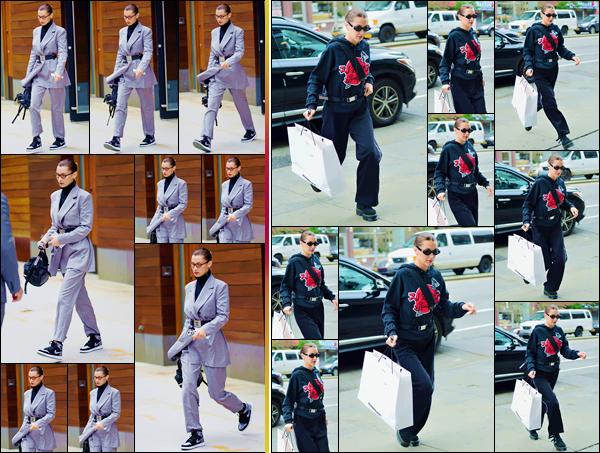 - ''•-03/06/18-' : Bella Hadid arrivait au défilé de « Alexander Wang Fashion Resort 2018 », situé dans New York. Quittant premièrement son appartement dans Manhattan, Bella Hadid a défilé dans les nouvelles pièces du créateur, qui lançait sa collection pour l'été ! -