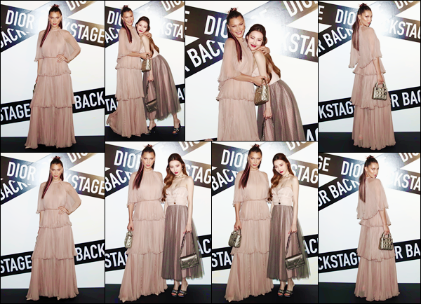 - ''•-11/06/18-' : Bella Hadid était présente à la soirée « Dior Backstage Launch Party » se déroulant dans Séoul. Comme à chaque fois que Bella se trouve en Corée du Sud, elle prend la pose avec la chanteuse Sunmi qui a d'ailleurs performé lors de cet événement ! -
