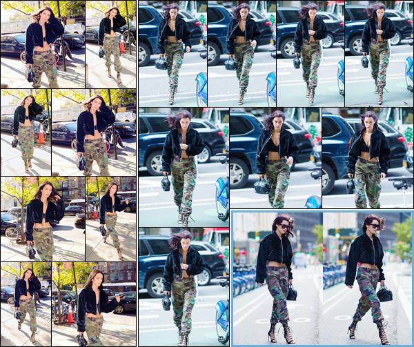 '- '-◊-25/10/16-' : Bella Hadid se rendait aux bureaux de la marque « Victoria's Secret » dans la ville de New York. En prévision de son tout premier défilé avec la célèbre marque de lingerie, qui aura lieu le mois suivant, B. se rendait dans les locaux pour ses essayages.-