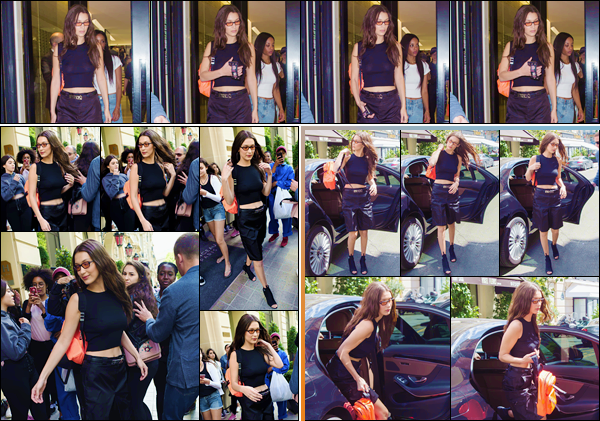 - ''•-22/06/18-' : Bella Hadid se rendait à « L'Atelier Chanel » qui se trouve situé dans la ville de Paris en France. Bella a d'abord été photographiée en quittant l'hôtel Le Royal Monceau pour se rendre dans les bureaux de la marque de Haute Couture Chanel. Un top ! -