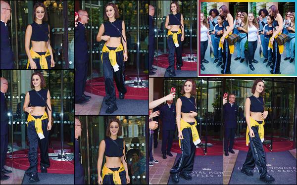 - ''•-24/06/18-' : Bella Hadid quittait l'hôtel « Le Royal Monceau » et qui se trouve localisé dans la ville de Paris. Toujours aussi souriante, la mannequin nous offre cette fois-ci un look total black comme elle les affectionne la plupart du temps quand elle sort en ville. -