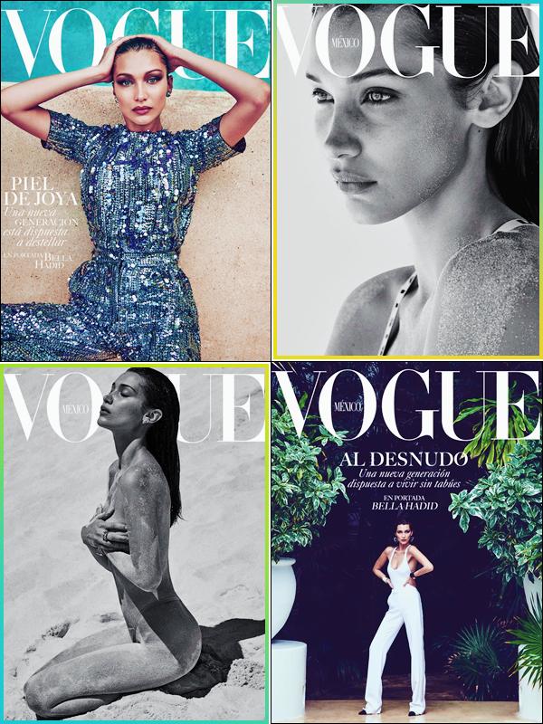 - '-MAGAZINE ●- Bella Hadid fait la couverture du « Vogue México » et qui a été réalisé par Chris Colls ! -