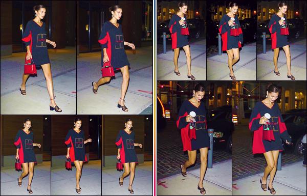 - ''•-01/08/18-' : Bella Hadid a été photographiée en rentrant à son appartement, qui est situé dans Manhattan. Ayant passé beaucoup de temps loin de l'emprise des paparazzis, avec son copain le chanteur The Weeknd, la belle brunette est de retour à New York ! -