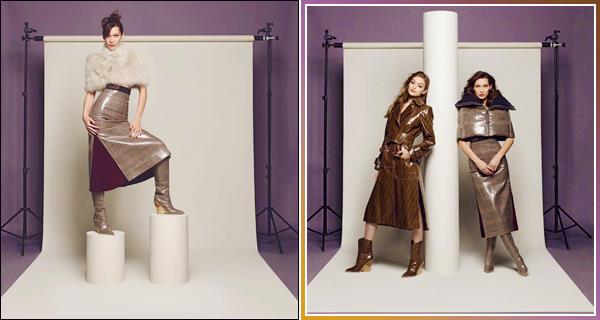 - '-FENDI ●- Bella Hadid prenait la pose pour nouvelle collection de « FENDI » d'automne & hiver ! -