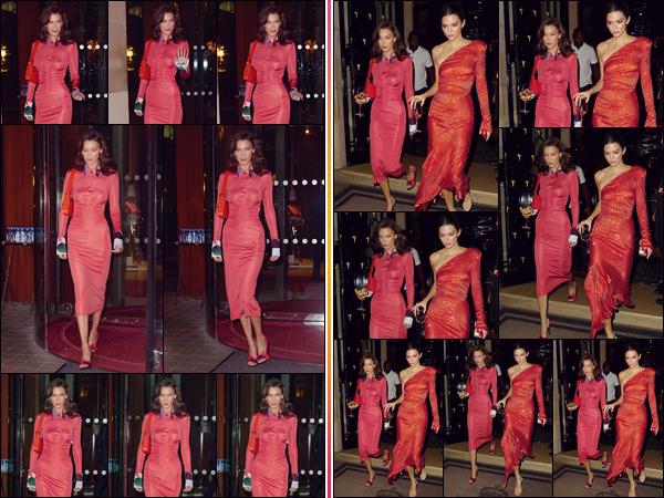 - '-• 26/09/18-''─ Bella Hadid se rendait à la soirée « YouTube Fashion E Beauty Celebration » ayant lieu à Paris. Après avoir quitté une énième fois « Le Royal Monceau » en journée, on retrouve Bella Hadid avec son amie mannequin : Kendall Jenner. -
