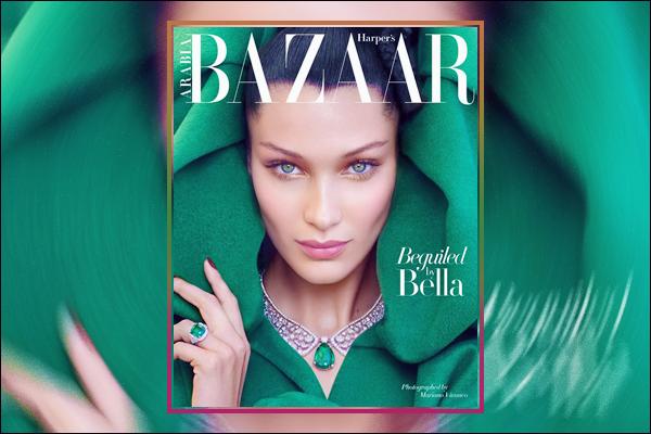 - '-SHOOT ●- Bella Hadid fait la couverture du « Harper's Bazaar Arabia » pour octobre de 2018 ! -