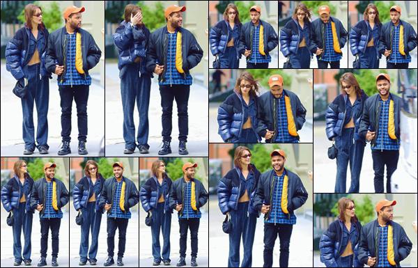 - '-• 29/10/18-''─ Bella Hadid se baladait en ville accompagnée de son petit ami Abel, dans la ville de New York. Se faisant discrète depuis quelques jours, la belle mannequin est de retour dans les rues de la ville, avec Abel Tesfaye. C'est un gros bof ! -