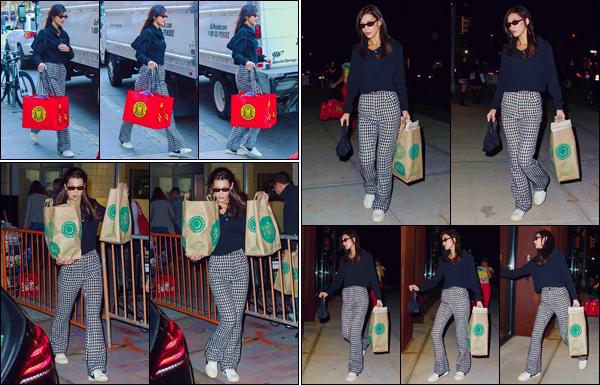 - '-• 03/11/18-''─ Bella Hadid se rendait à la boutique de décorations : « Balloon Saloon », se trouvant à Tribeca. Bella a par la suite été photographiée lorsqu'elle arrivait à l'appartement de sa grande soeur Gigi Hadid, qui est situé dans Manhattan. Bof. -