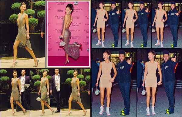 - '-• 08/11/18-''─ Bella Hadid était présente à l'after-party du « Victoria's Secret Fashion Show 2018 », dans NY. Après avoir pris la pose sur le « Pink Carpet » de l'événement avec Yolanda, Bella a changé de tenue pour se rendre à une fête avec Abel. -