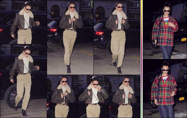 - '-• 14/11/18-''─ Bella Hadid a été photographiée alors qu'elle rentrait à son appartement, situé à Manhattan. La veille, Bella Hadid a de nouveau été photographiée lorsqu'elle rentrait à son logis dans Manhattan. Je lui accorde un bof puis un top ! -