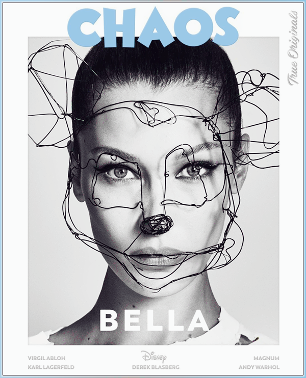 - ●  Bella Hadid pose pour l'édition « The Disney Issue » du magazine Chaos, en novembre 2018 ! -