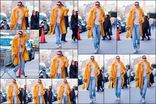 - '-• 29/12/18-''─ Bella Hadid a été photographiée lorsqu'elle rentrait à son appartement, sur l'île de Manhattan. Après plusieurs jours sans nouvelles de la jeune mannequin, nous retrouvons Bella emmitouflée dans son manteau d'apparence fourrure ! -