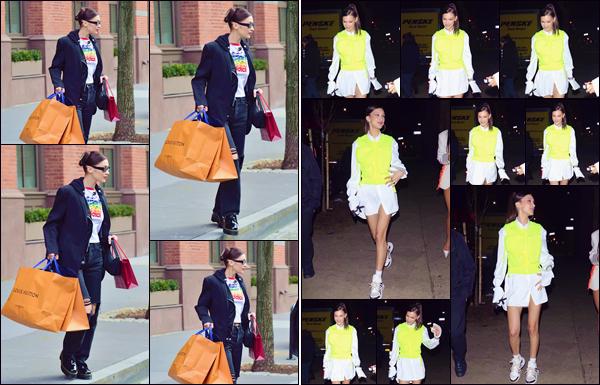 - '-• 09/01/19-''─ Bella Hadid se rendait à la soirée « Chrome Hearts x Louis Vuitton », ayant lieu dans New York. Un peu plus tôt dans la journée, nous retrouvons la belle mannequin qui quittait une boutique de la marque « Louis Vuitton » à New York. -